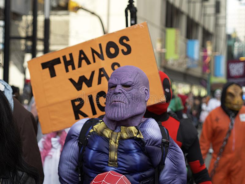 Thanos Was Right stock foto