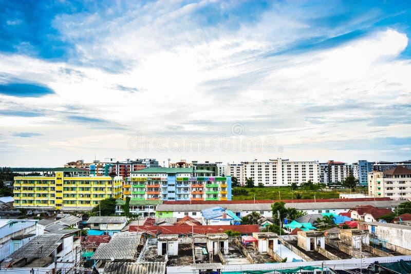Thanyaburi city. Community after thanyaburi city at The very Pine royalty free stock images
