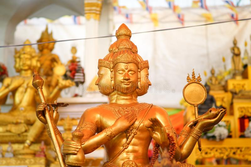 Thao Maha Brahma, santuário de Erawan foto de stock