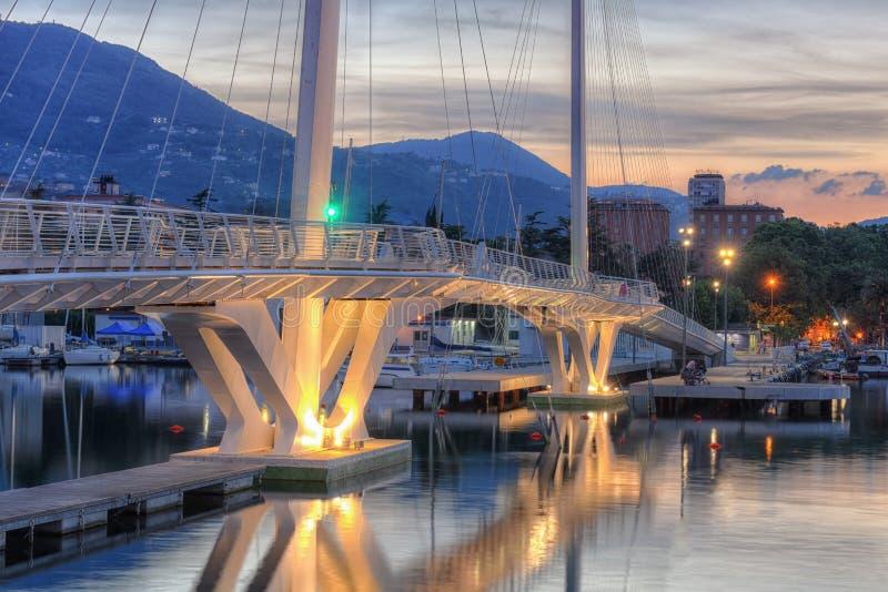 Thaon di Revel,拉斯佩齐亚,五乡地桥梁  库存图片