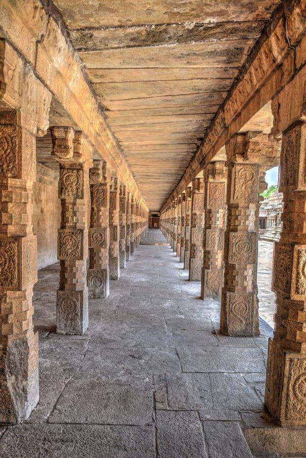 Tharasuram architecture in Kumbakonam. A master piece. Gangai Konda Chozhapuram raja rajaraja chozan architechture big temple HDR royalty free stock photography