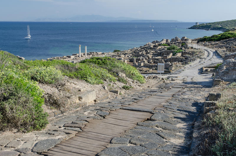 Tharros废墟,撒丁岛 库存图片