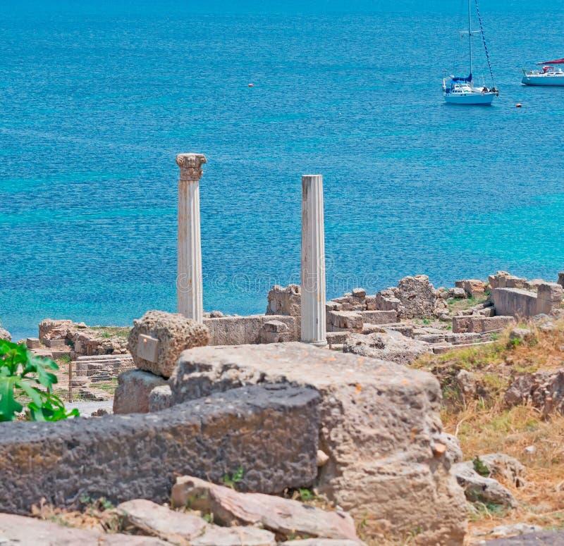 Tharros coastline royalty free stock image
