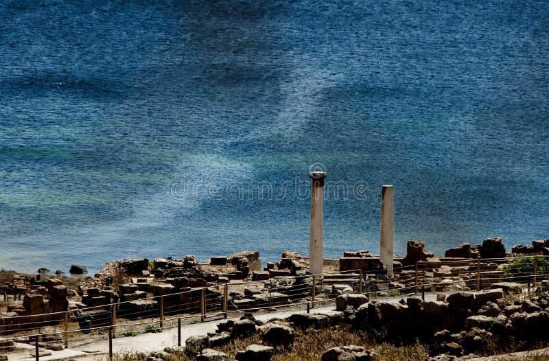 Tharros van Sardinige stock foto