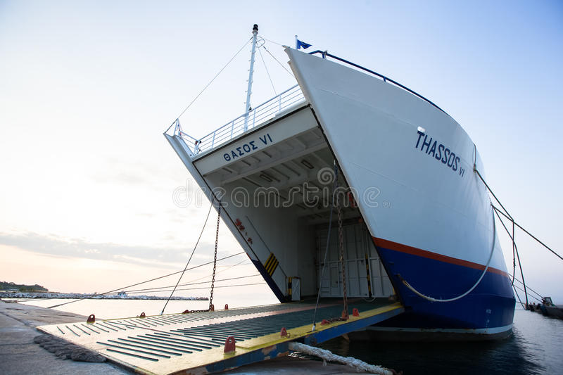 Download Thassos Ferry  On June 28, 2013 In Limenas, Greece. Editorial Image - Image of vessel, greece: 32051255