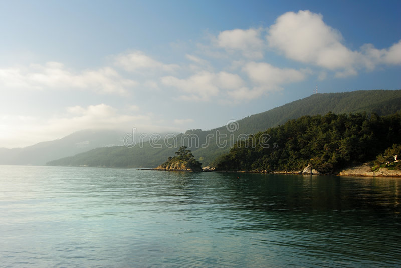 Thassos, Greece. Thassos or green greek island royalty free stock image