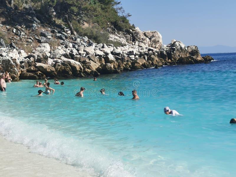 Thassos. Greece, seaside, beach, sun stock image