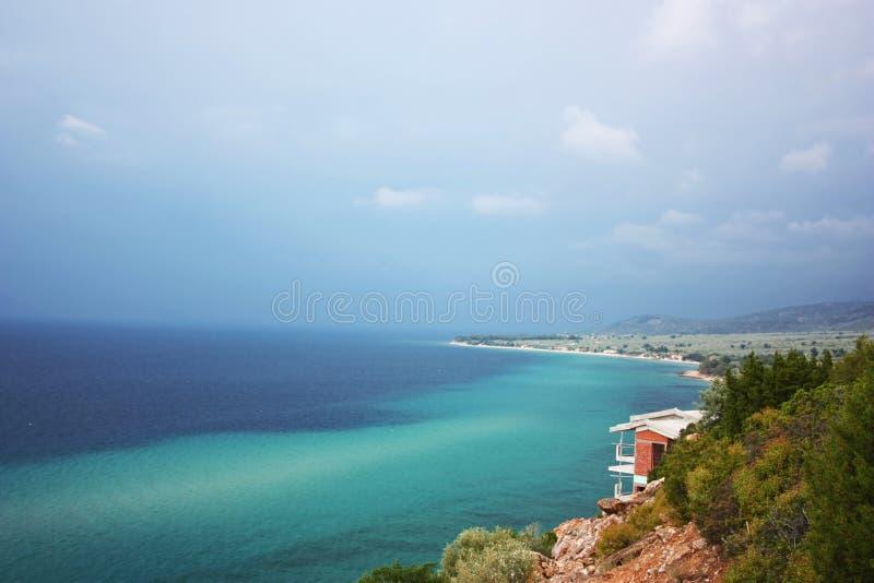Thassos island, Greece. View of Thassos island, Greece royalty free stock image