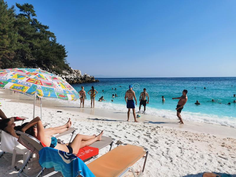 Thassos. Beach, seaside, sand stock photos