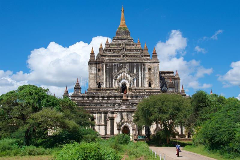 Thatbyinnyu寺庙在Bagan,缅甸 免版税库存图片