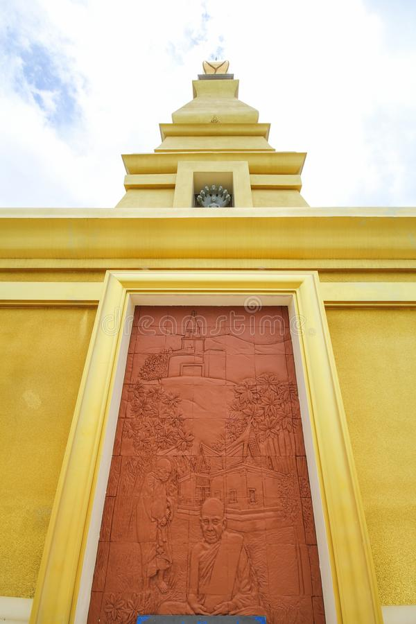 Thatbyinnyutempel, Bagan, Myanmar, oude templeBeautiful tempel bij de Provincie van Nong Bua Lamphu, Thailand royalty-vrije stock afbeeldingen