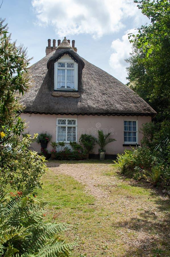 Thatch Cottage. One of many thatch cottages found around Devon stock image