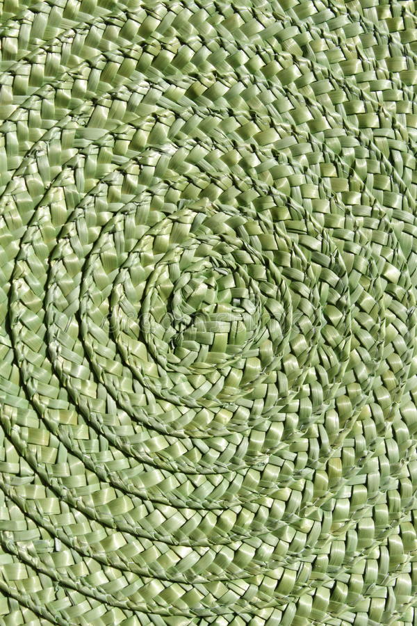 Thatch helix. Green network, the large circles, abstract background, unique original texture, natural materials, history of naive culture, retro hand made royalty free stock photos