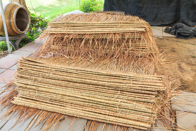 Thatch roof. Tropical thatch roof in Thailand stock photos