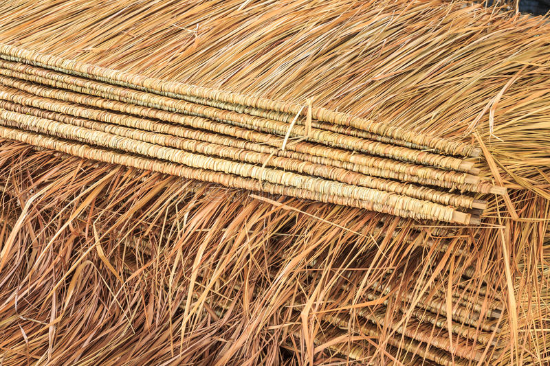 Thatch roof. Tropical thatch roof in Thailand stock photography
