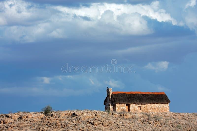 thatched ландшафт хаты стоковые фото