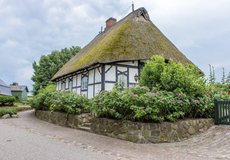 thatched дом стоковое фото