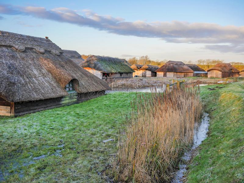 Thatched Boat Houses at Hickling royalty free stock photography