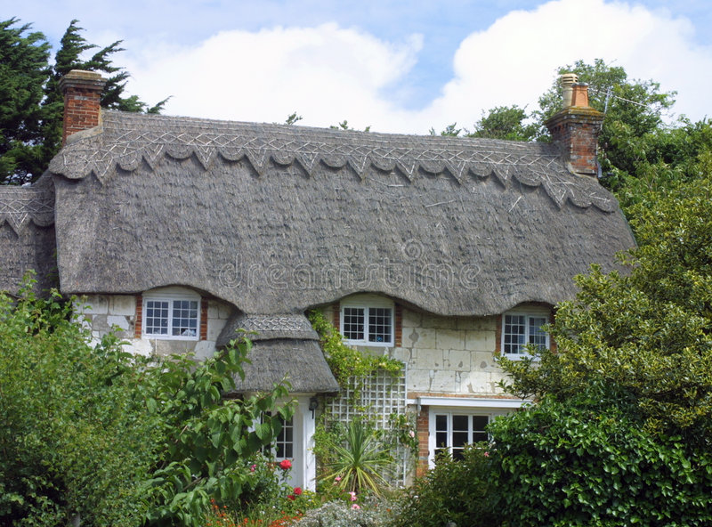 Download Thatched cottage stock photo. Image of trees, thatched - 123956