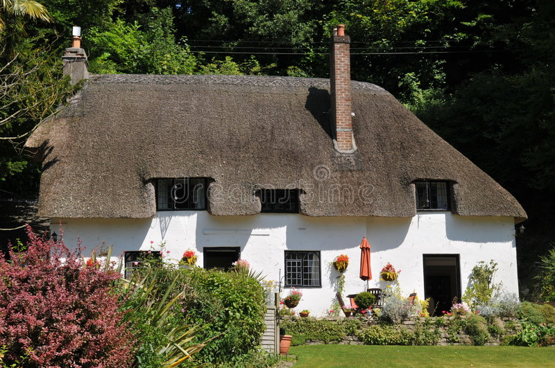 Thatched cottage stock photography
