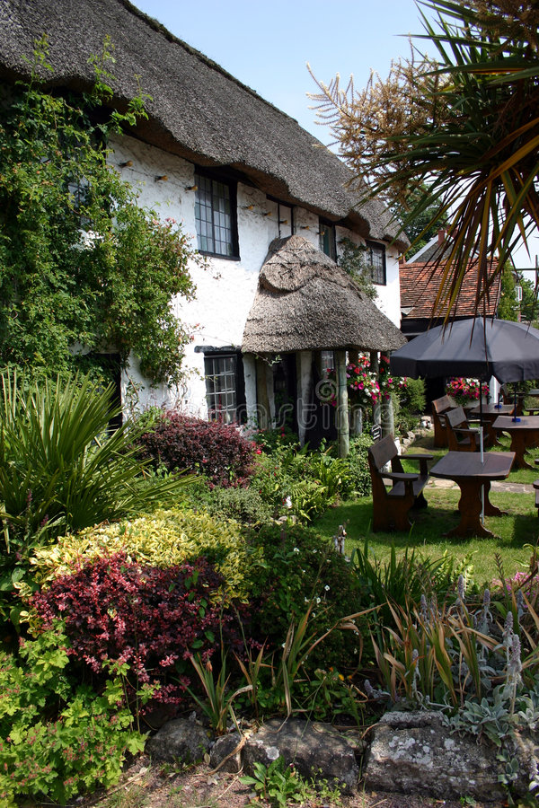 Download Thatched Devon Pub stock image. Image of hostel, beer, thatched - 986563