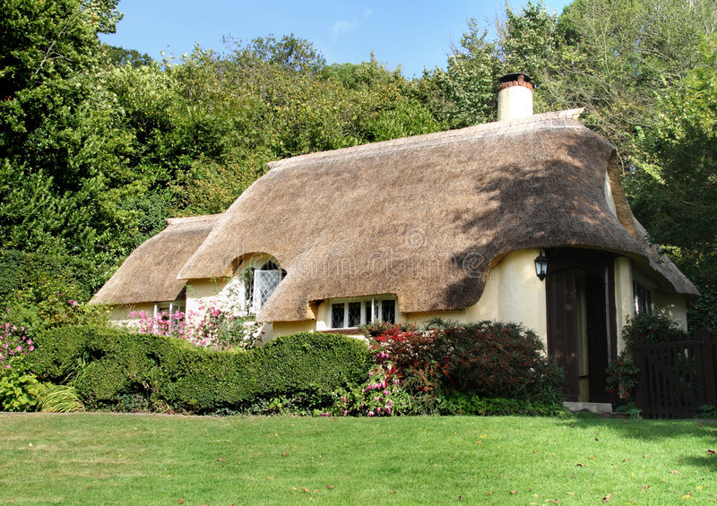 Thatched English Cottage royalty free stock images