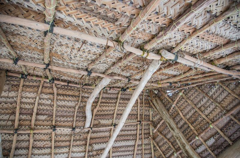 Thatched Roof Ceiling stock photo