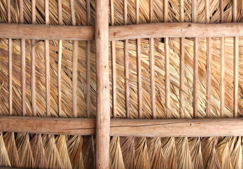 Thatched Roof - Inside stock photo