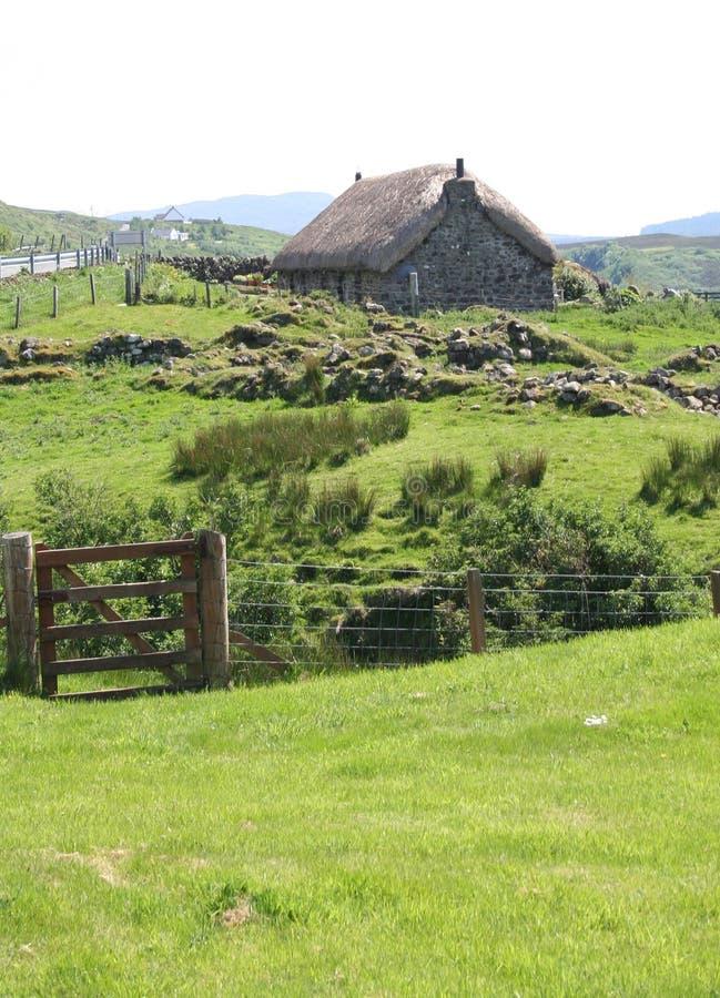 Thatchhäuschen, Insel von Skye stockfoto