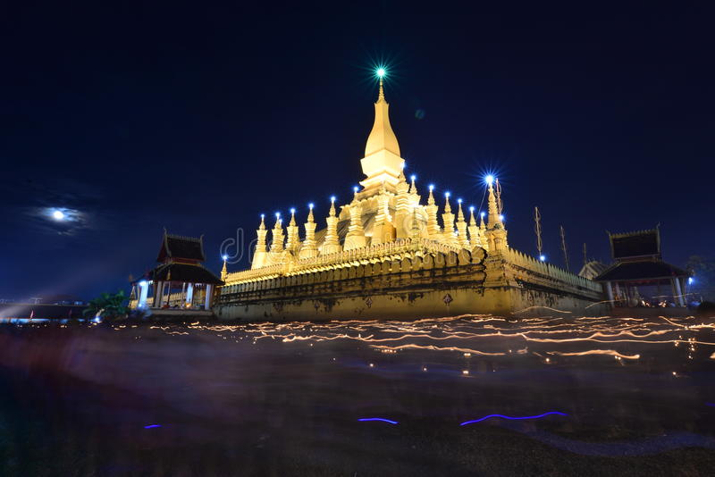 Thatluangfestival in Vientiane Laos PDR royalty-vrije stock foto