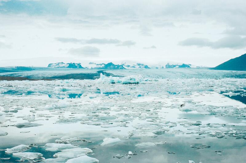 Thawing glacier in Iceland royalty free stock images
