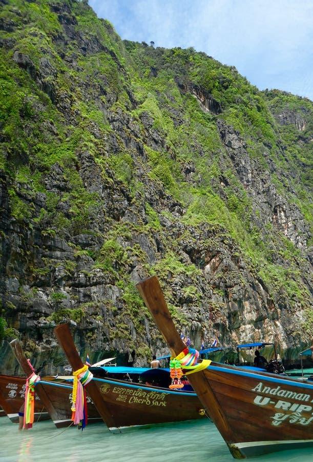 Thayland - longtail łódź fotografia stock