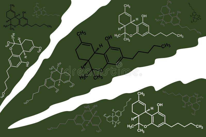 THC Strukturen auf Blatt lizenzfreie abbildung