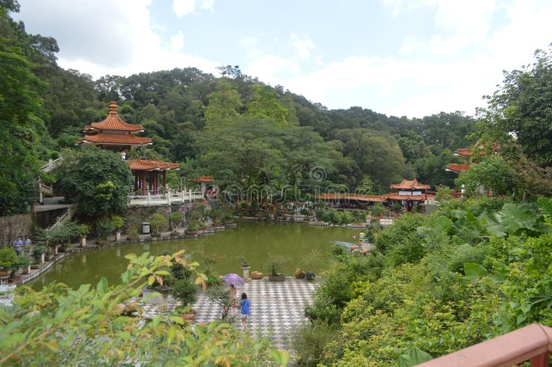 ThChina ogród botaniczny fotografia royalty free