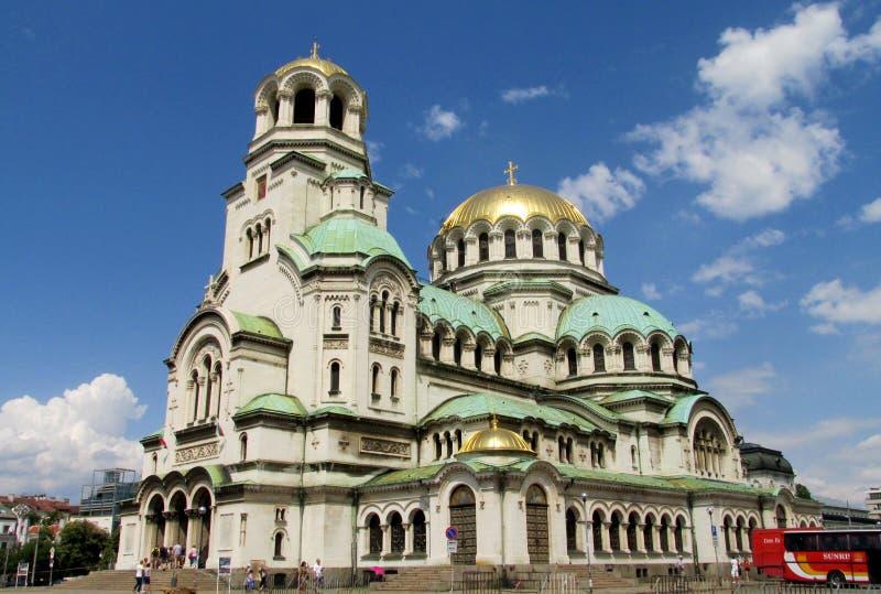 TheSt Aleksander Nevskykatedra Bułgarski Ortodoksalny kościół w Sofia obraz stock