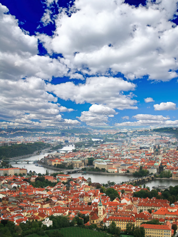 Free The Aerial View Of Prague Royalty Free Stock Photo - 5996145