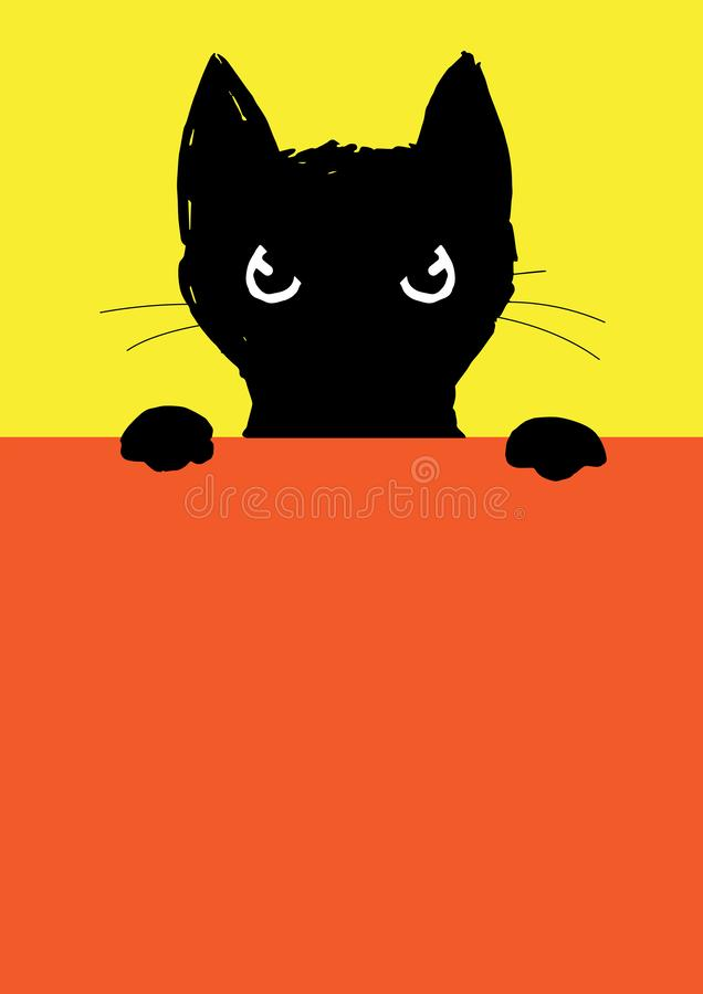 Free The Angry Black Cat Royalty Free Stock Images - 127826279