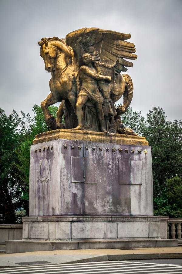 Free The Arts Of War Statues At The Arlington Memorial Bridge - Washington D.C. Royalty Free Stock Photography - 123187387