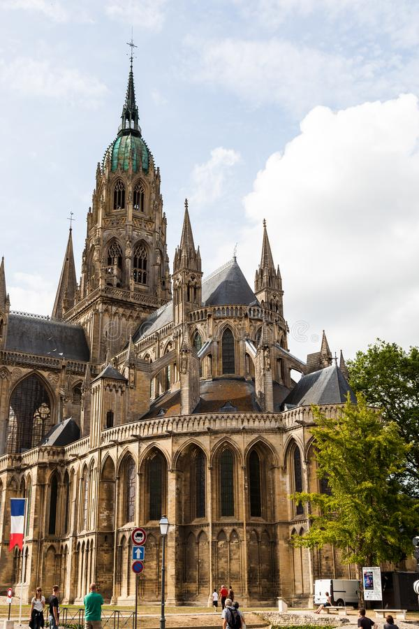 Free The Bayeux Cathedral Known For Its Gothic Architecture Stock Image - 114341301