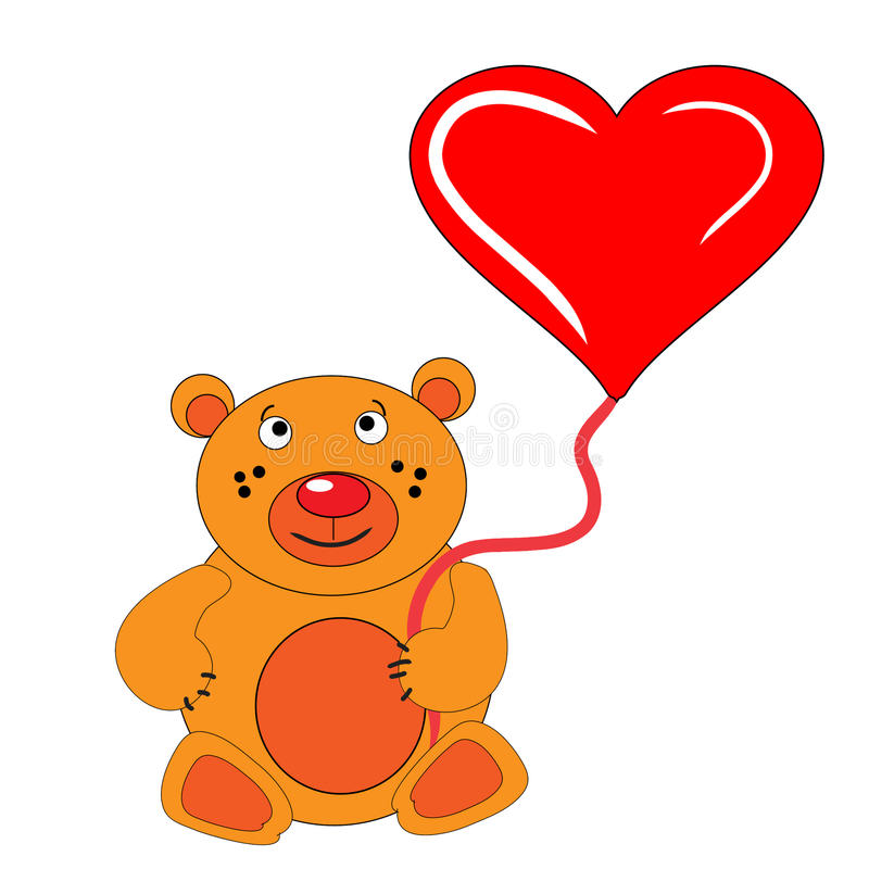 Free The Bear Cub Keeps In Hand Heart. Royalty Free Stock Image - 12577906