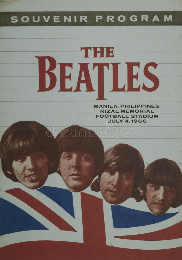 Free The Beatles Souvenir Program Stock Images - 140041804