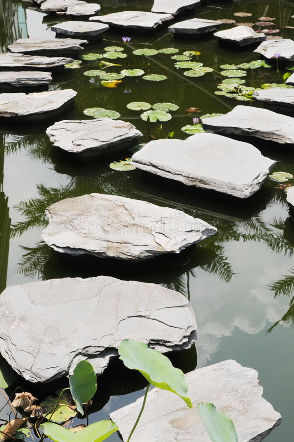 Free The Bending Stepping Stone Footpath Stock Image - 6190031