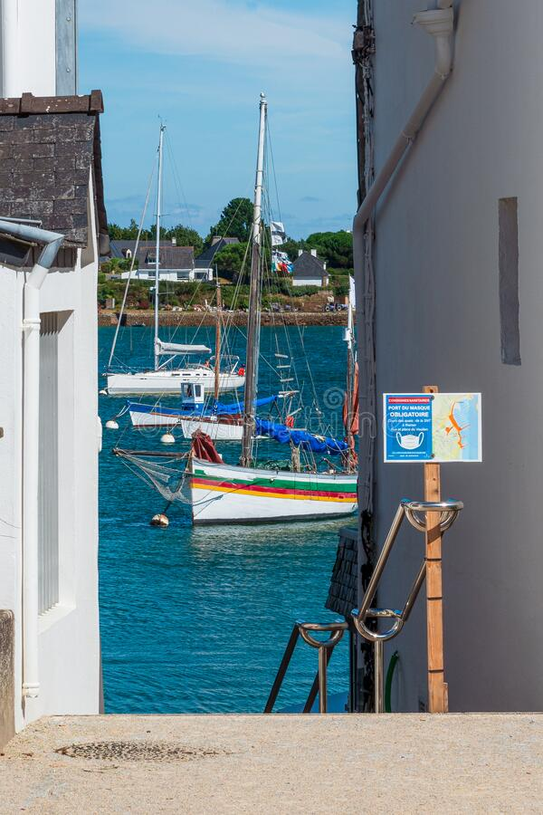 Free The Brittany Port Of Trinite Sur Mer Per Time Covid 19 Royalty Free Stock Images - 194225929