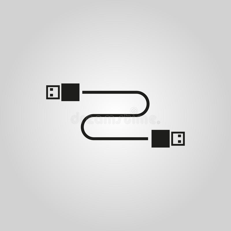 Free The Cable Usb Icon. Transfer And Connection, Data Symbol. UI. Web. Logo. Sign. Flat Design. App. Stock Royalty Free Stock Photos - 79859278