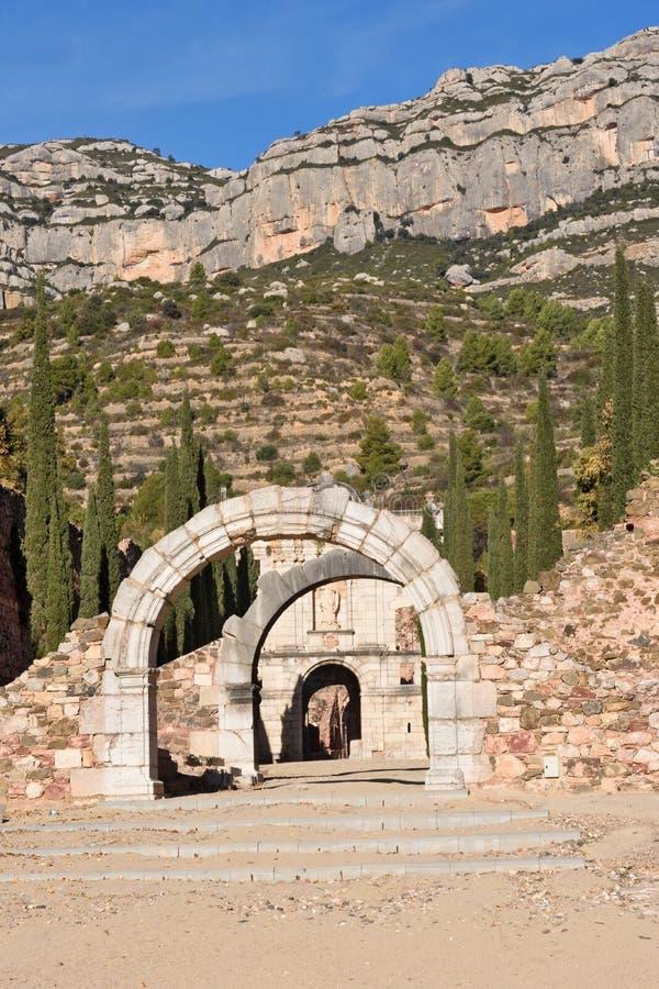 Free The Carthusian Of Escaladei In The Priorat, Tarragona Province, Cata Stock Images - 114851024