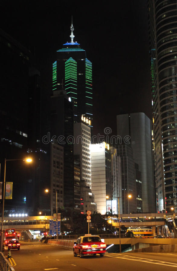 Free The Center Building Skyscraper In Hong Kong By Night Stock Photos - 69227603