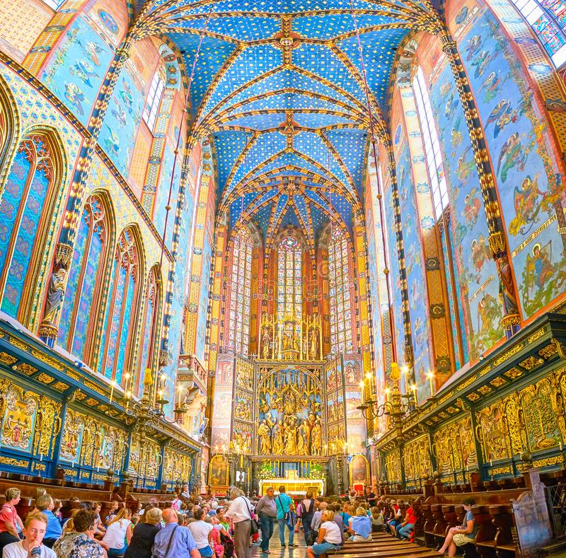 Free The Chancel And Altar Of St Mary Basilica In Krakow, Poland Royalty Free Stock Photo - 124713525