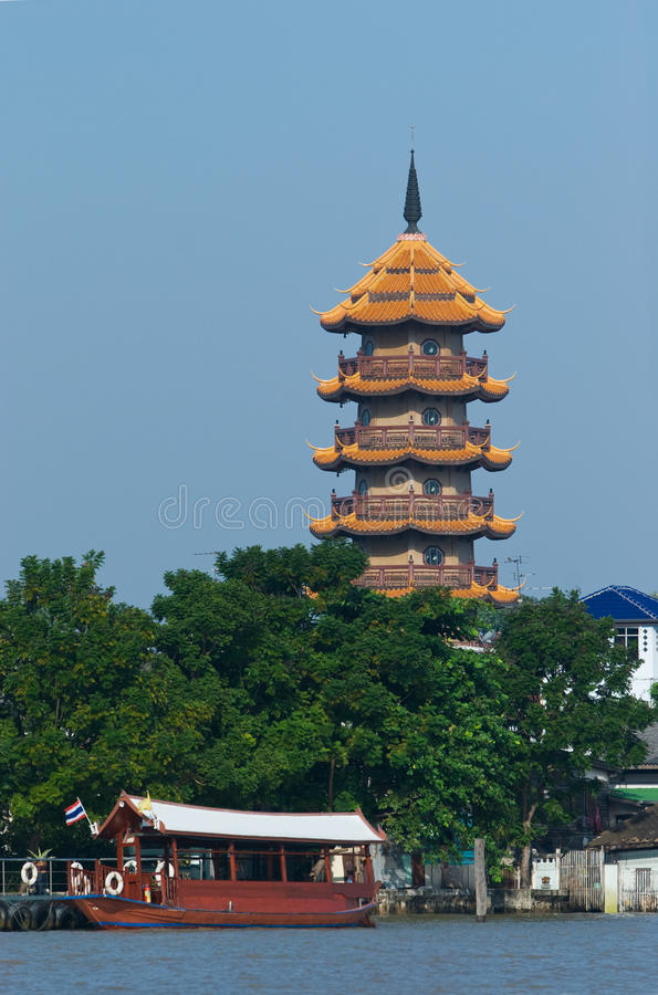 Free The Chee Chin Khor Pagoda In Bangkok Royalty Free Stock Photos - 9883518