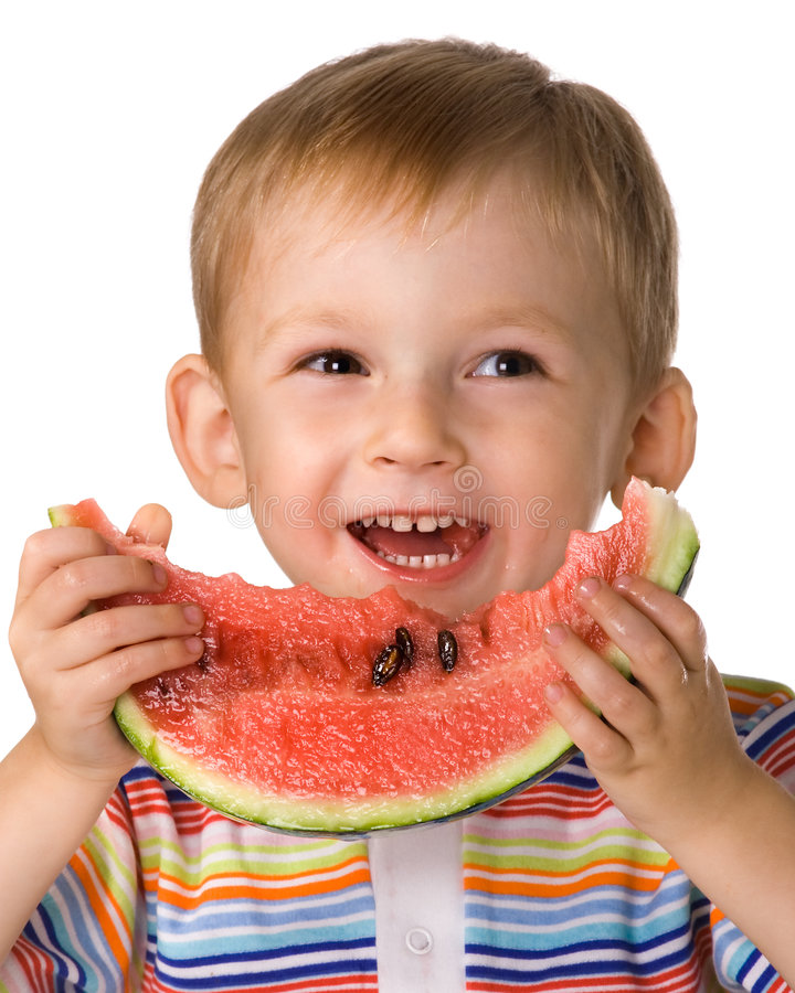 Free The Child With A Water-melon Royalty Free Stock Photos - 3052488