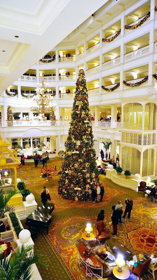 Free The Christmas Tree At Grand Floridian Hotel S Lobby Stock Photography - 35715102